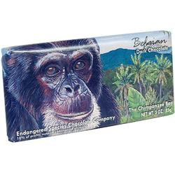 Endangered Species Belgian Chocolate Bars - Chimpanzee Smooth Dark Chocolate